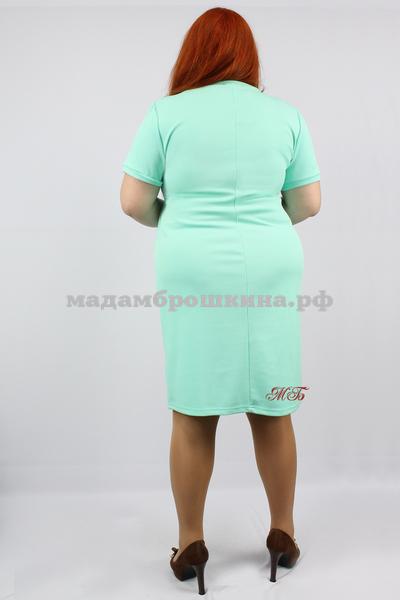Платье Футляр рубчик (фото, вид 3)