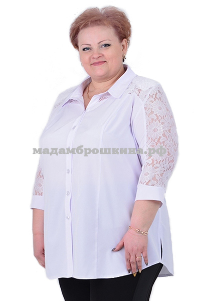 Блуза Белоснежка (фото, вид 3)