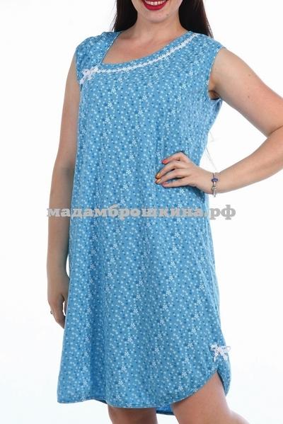 Сорочка ночная Майя (фото, голубой)