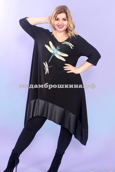 Туника -платье Игривые стрекозки (фото, вид 3)