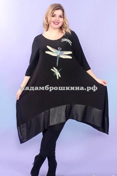 Туника -платье Игривые стрекозки (фото, вид 4)