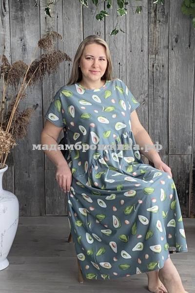 Платье для дома и отдыха Авокадо (фото, вид 1)