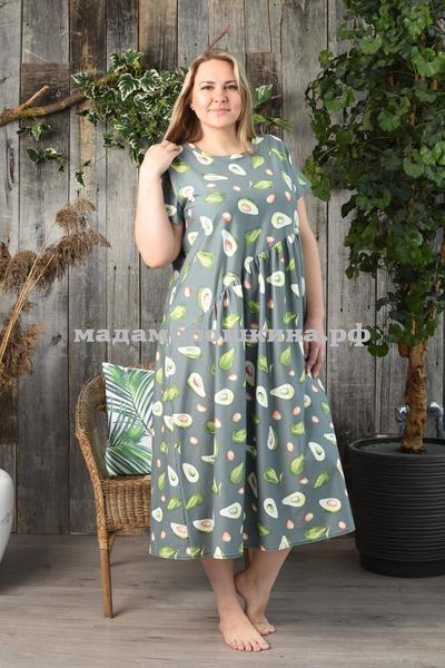 Платье для дома и отдыха Авокадо (фото, вид 3)