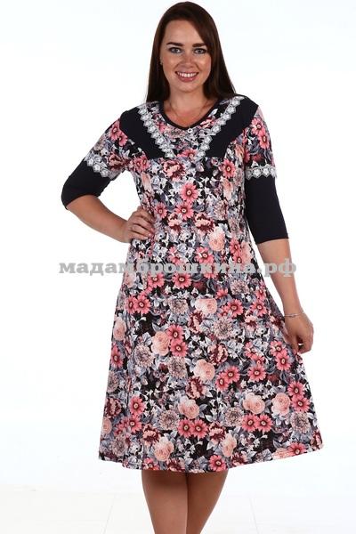 Платье для дома и отдыха Цветочное (фото, вид 1)