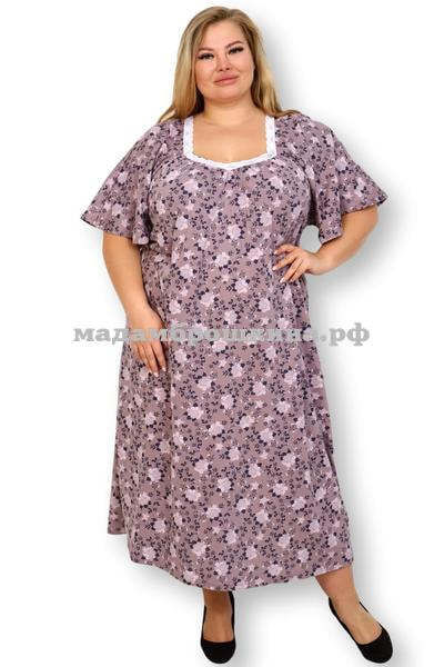 Сорочка ночная Фламинго (фото, Размеры 66, 68)