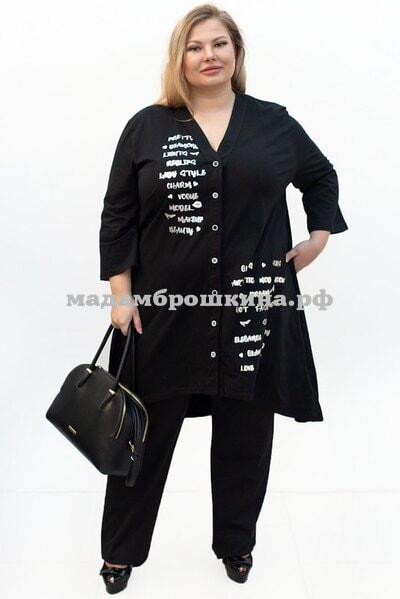 Туника Пуговка штапель (фото)