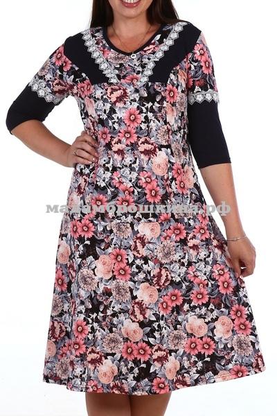 Платье для дома и отдыха Цветочное (фото)