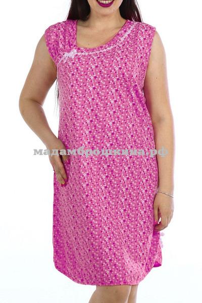 Сорочка ночная Майя (фото, малина)