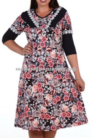 Платье для дома и отдыха Цветочное